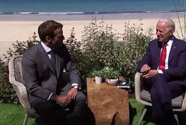 Макрон после встречи с Байденом: Америка, как лидер свободного мира, вернулась