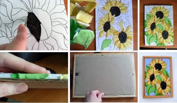 Картины из ткани своими руками: оригинальные идеи (32 фото)
