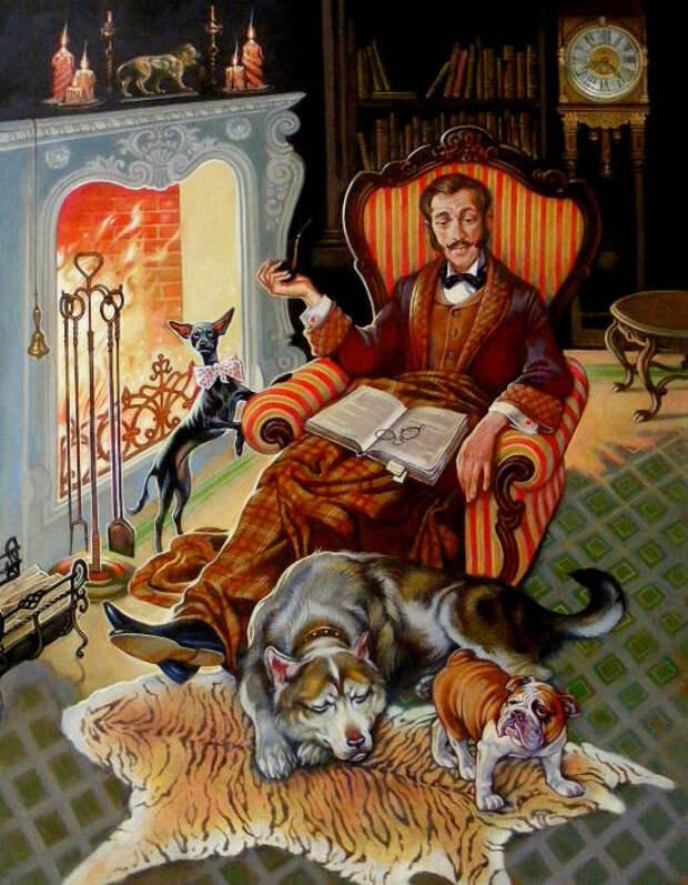 Иллюстрация к произведению Зов предков. \ Фото: vatikam.com.