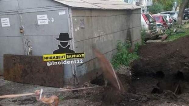"""На Потоке в Барнауле неизвестные """"украли"""" несколько погребов"""
