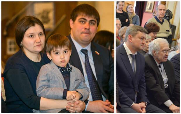 Внуки Георгия Маленко  - Анастасия с сыном и Дмитрий с отцом внуки, генсеки, дети, известные личности, потомки