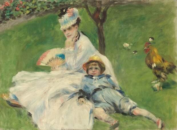 Мадам Моне с сыном», Ренуар, 1874,