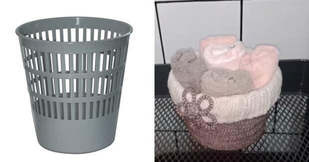 Используйте обычную корзину для бумаги для пользы в доме