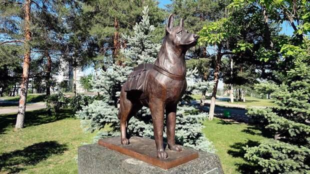 Памятник собакам - участникам войны
