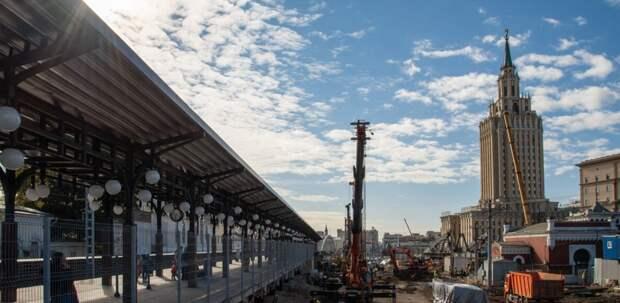 На Каланчёвском путепроводе завершили сборку самой крупной конструкции
