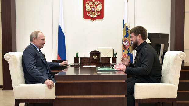 Путин похвалил Кадырова за поддержание безопаности в Чечне