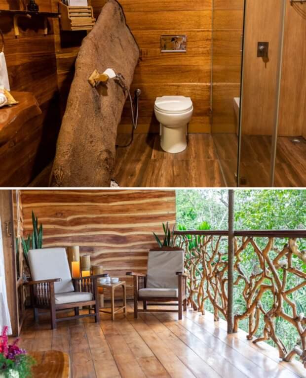 К услугам гостей нестандартная ванная комната и открытая терраса с фантастическими видами.   Фото: tranquilresort.com.