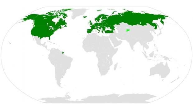 Страны-участницы договора по открытому небу
