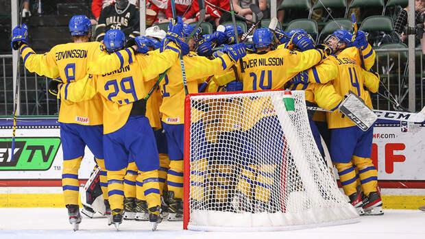 Швеция разгромила Финляндию вматче за3-е место ЮЧМ