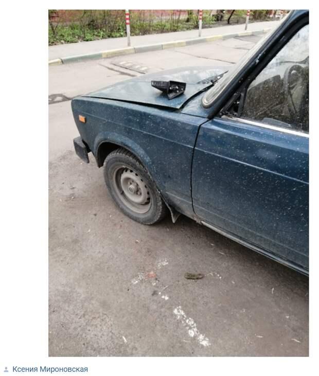 Жигули в Кузьминках пали жертвами вандалов