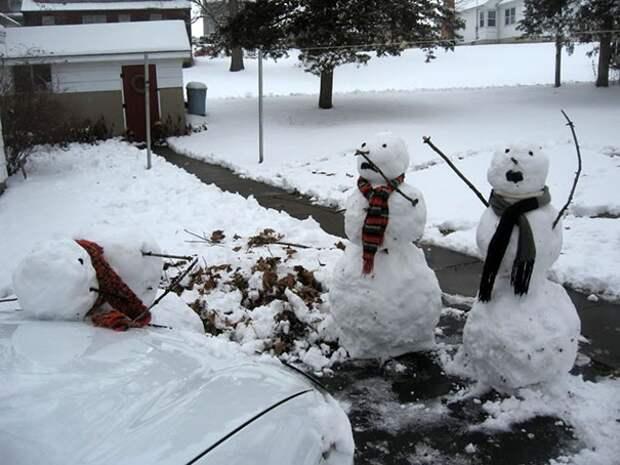 необычные снеговики для взрослых