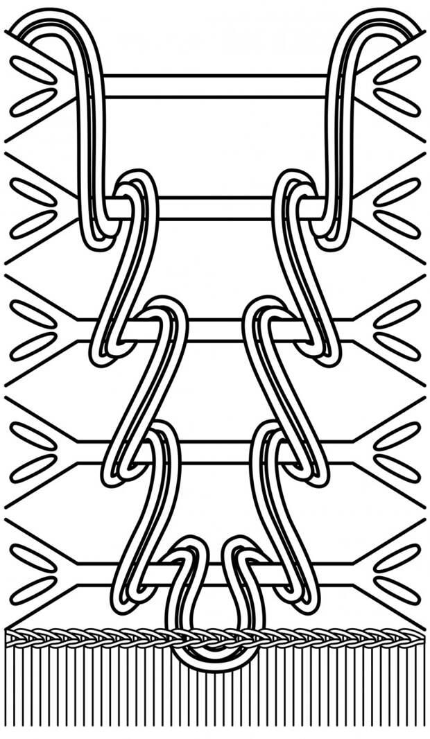 Джемпер с имитацией шнуровки спицами