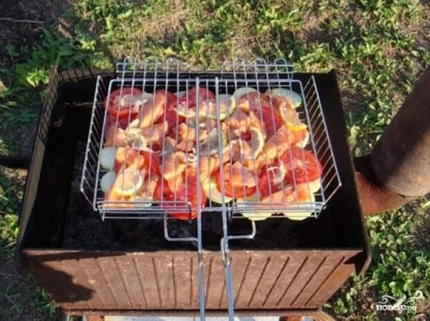 Рецепт на выходные. Шашлык из лосося