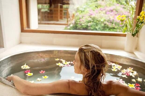 10. Растительные ванны для кожи
