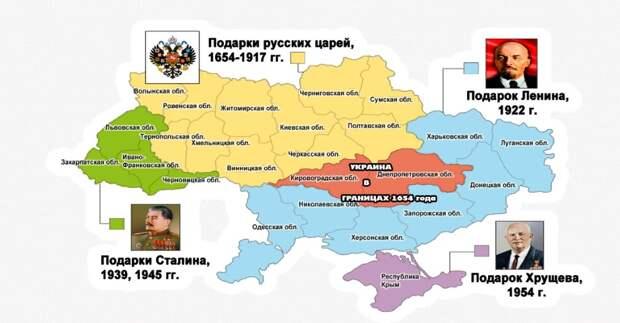 Своей территорией Украина обязана СССР