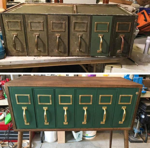 Волшебное преображении старого бюро. | Фото: Genial.guru.