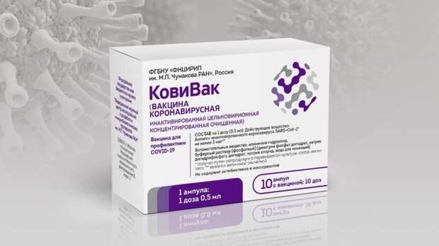 Названы сроки формирования иммунитета к COVID-19 после вакцинации препаратом «КовиВак»