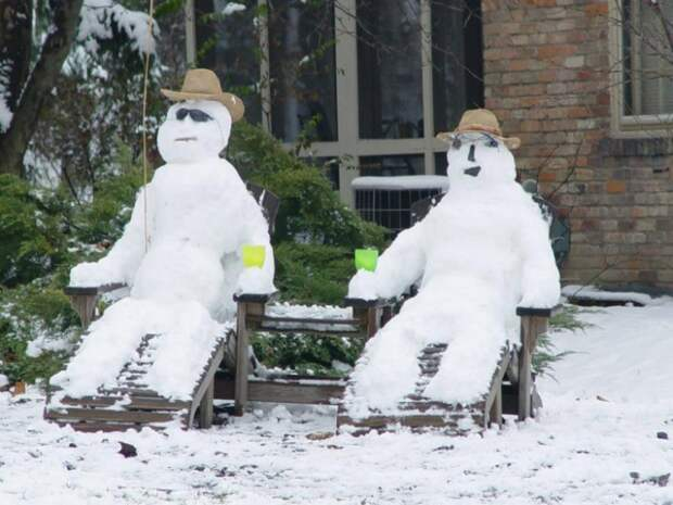 Креативные снеговики и снежные бабы: супер подборка