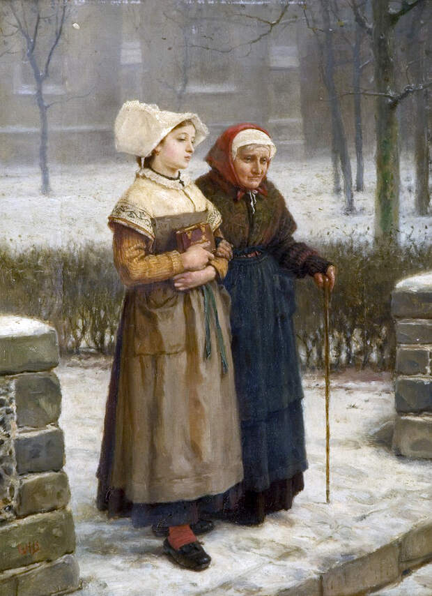 George Henry Boughton - Returning from Mass, Brittany..jpg