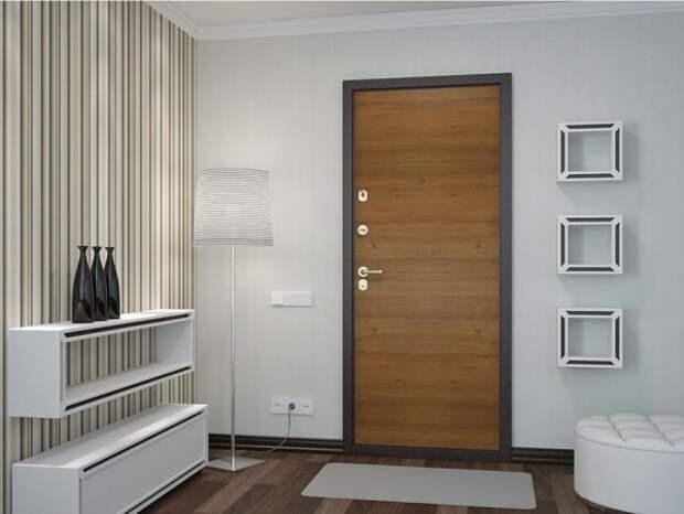 Как креативно украсить дверь с помощью ламината