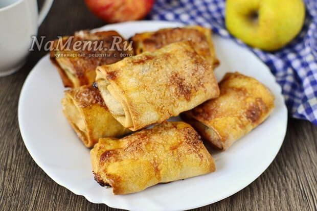 пирожки с яблоками из теста фило в духовке