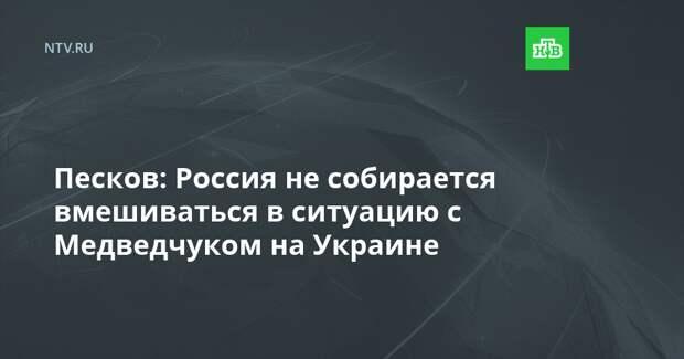 Песков: Россия не собирается вмешиваться в ситуацию с Медведчуком на Украине
