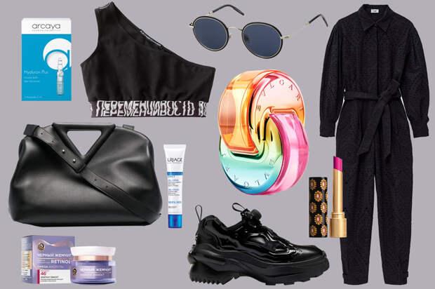 Как носить черный тотал лук и широкие брюки: 4 весенних образа