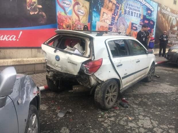 В Енакиево произошло ДТП с участием 4-х автомобилей, в котором пострадал пешеход и ребенок