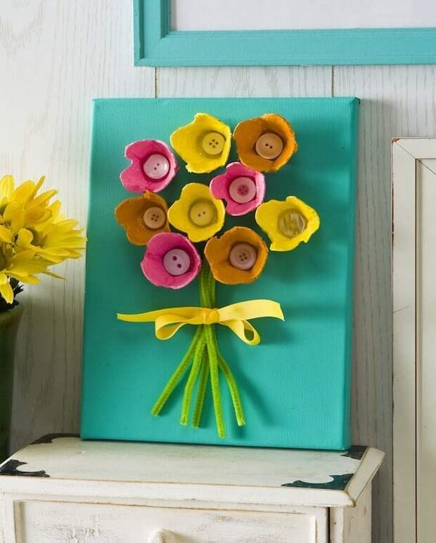 А еще кажется, что эти коробки созданы, чтобы из них сделать цветы вторая жизнь вещей, контейнер из-под яиц, коробка из-под яиц, своими руками, сделай сам