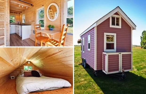 Идеальный домик для путешествий и отдыха среди дикой природы («Poco Pink», Канада). | Фото: tinyhousetalk.com.