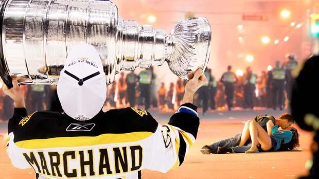 Дубль хулигана Маршанда игород вруках вандалов. 8 лет назад «Бостон» взял Кубок Стэнли в7-м матче