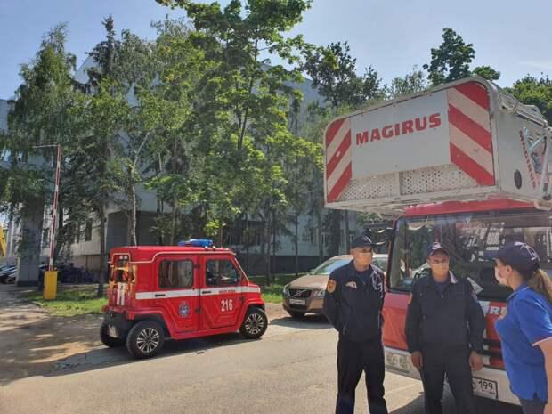 Изучение пожарными пожарно-спасательного отряда района выезда