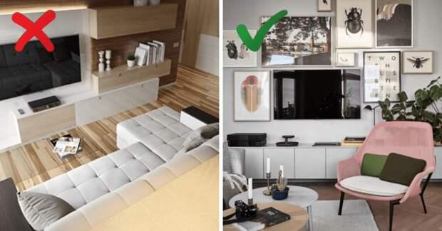 Критичные ошибки при расстановке мебели, которые стоит избегать