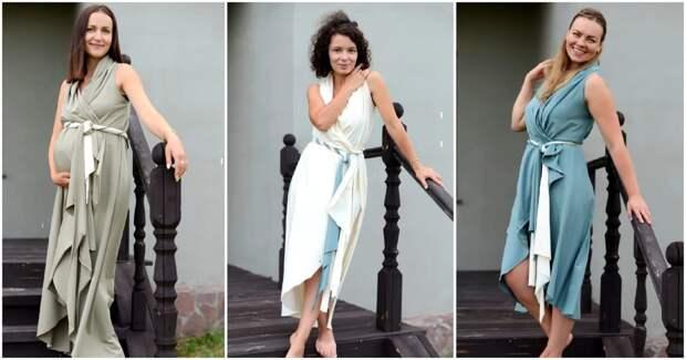 Красивое и просто платье круг и даже без выкройки за 1 час