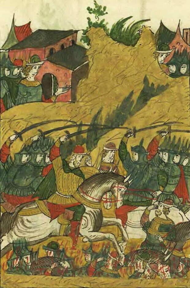 Ногайская «заворошня». Лицевой летописный свод, т. 22 - «Война двух царей»: шаг вперёд, два шага назад | Warspot.ru