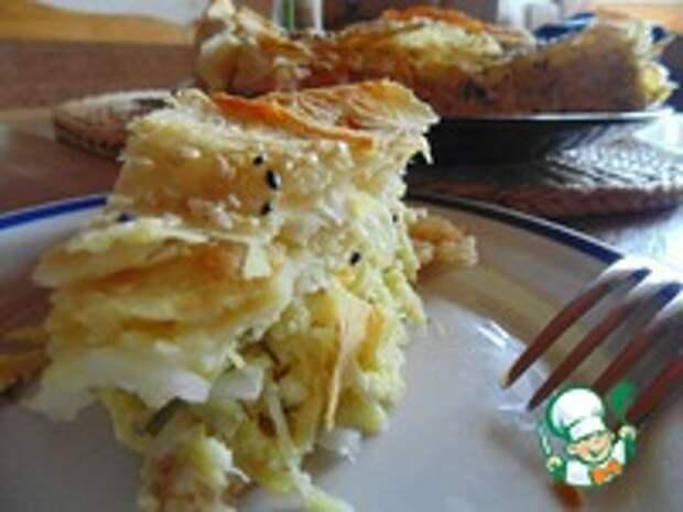 Пирог с кабачками и лавашем ингредиенты