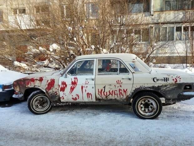 Когда бюджет ограничен, но есть фантазия автомобиль, маразмы, машина, перебор, прикол, смех, тюнинг, юмор