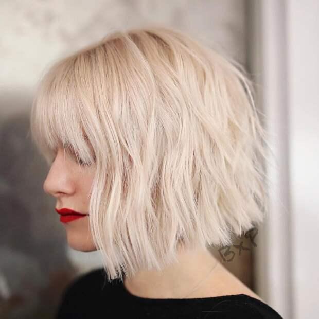 Каре на густые волосы: 25 сногсшибательных вариантов для стильных дам