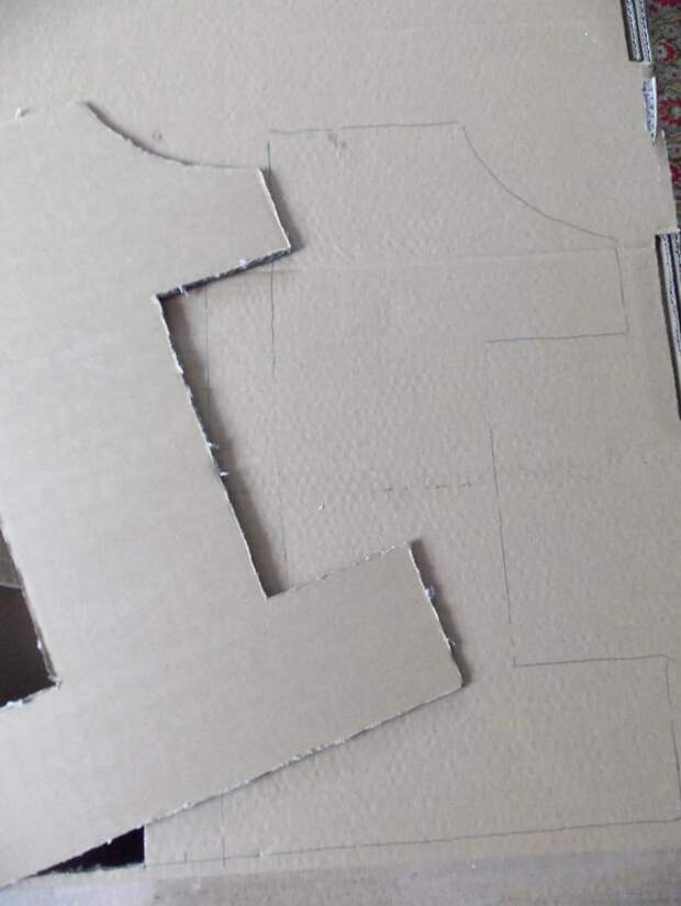Как вырезать основу из картона