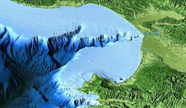 Многие реки продолжают свое течение дну моря, а на дне Чёрного моря сохранилось множество русел древних рек