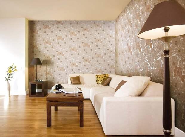 Обои в гостиную: разновидности, цвета, принты и стили (74 фото)