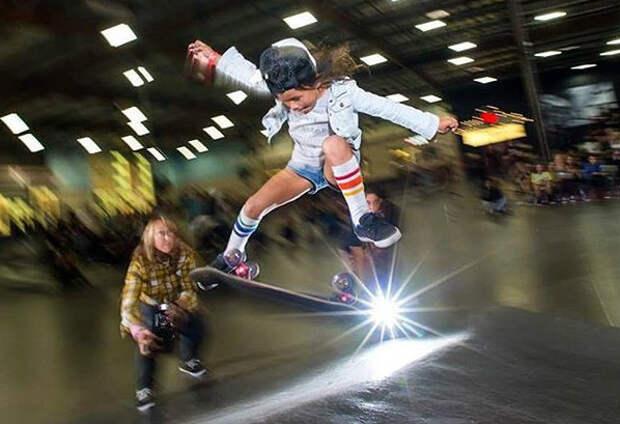 Восьмилетняя скейтерша из Японии умеет то, что вам и не снилось
