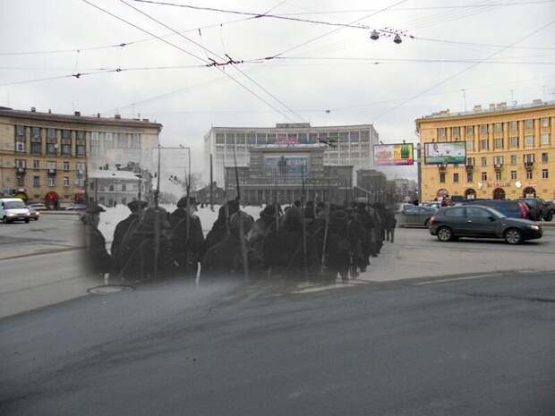 Ленинград 1941-2009 Выборгская сторона. Площадь Калинина блокада, ленинград, победа