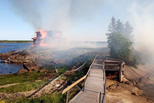 Сгорел «храм» из фильма «Остров» Павла Лунгина
