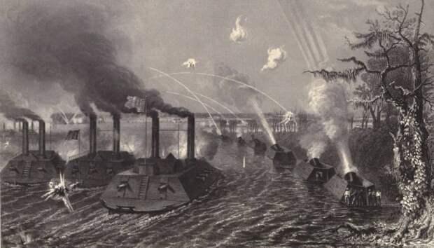 Мортиры «Диктатор» в боях Севера против Юга