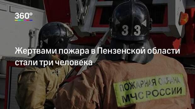 Жертвами пожара в Пензенской области стали три человека