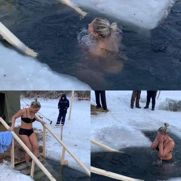 Крещение как повод для селфи: фотографии из проруби