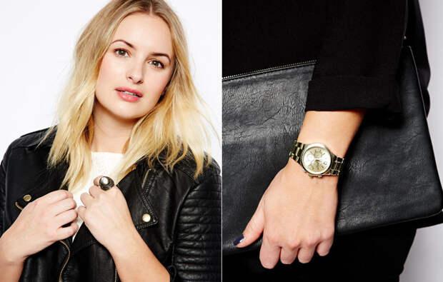 Крупные украшения и часы в мужском стиле отвлекут внимание от проблемных зон, к тому же они сейчас очень актуальны
