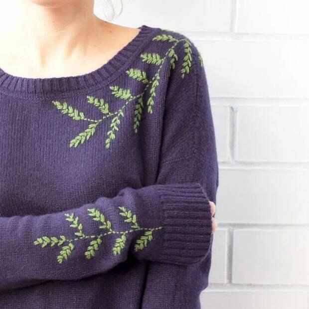 Веточка по свитеру