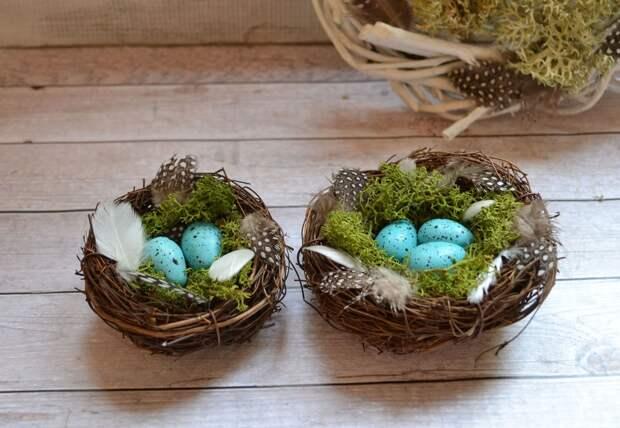 Птичье гнездо своими руками — красивая поделка из подручных материалов
